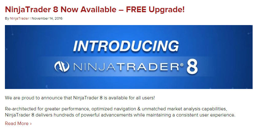 Release date for NinjaTrader 8 - NinjaTrader   futures io social day