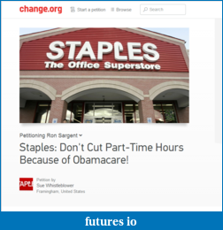 ObamaCare: part time employee's, So it begins-staples_2014-01-12_0937.png