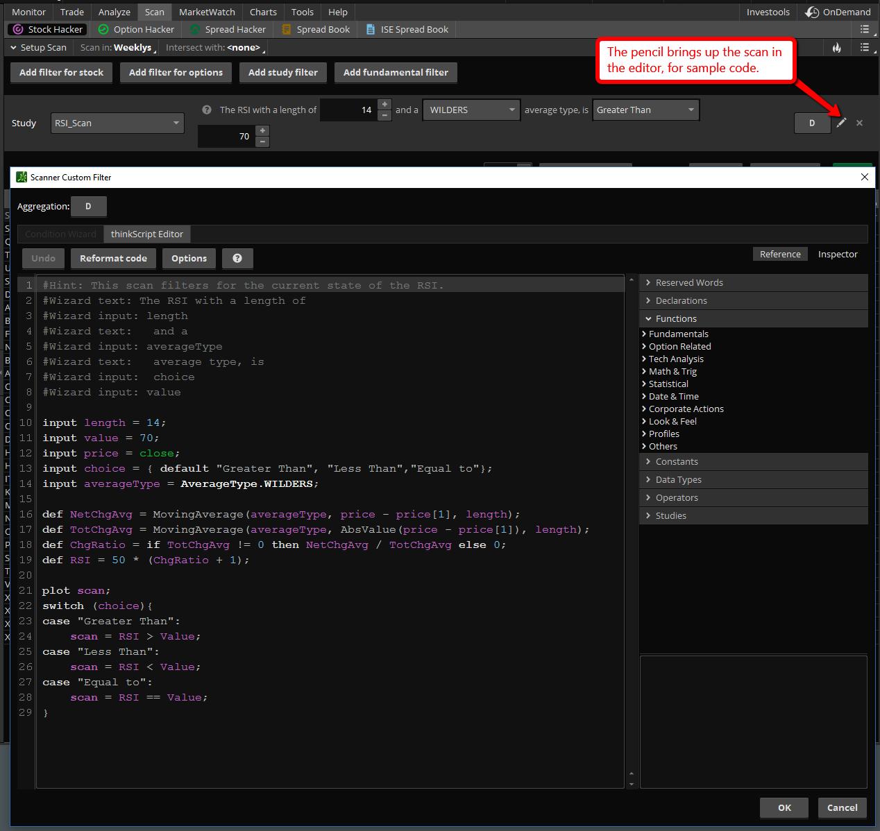 Beginners Think Script Starter Kit - ThinkOrSwim Programming