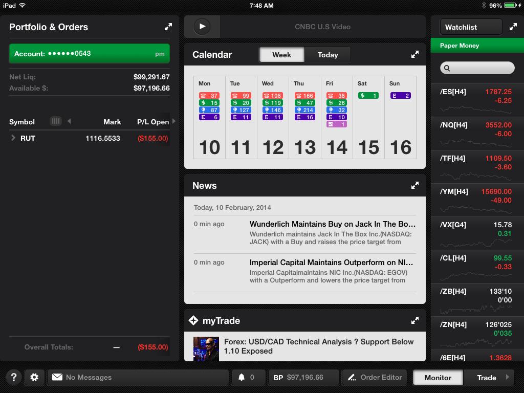 Mobile Trading - ThinkOrSwim   futures io social day trading