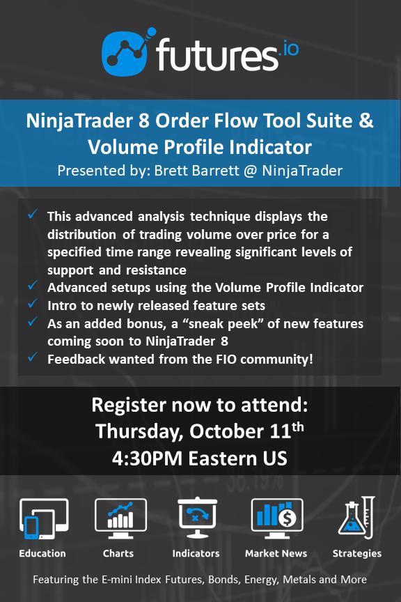 Webinar: NinjaTrader 8 Order Flow Tool Suite & Volume Profile